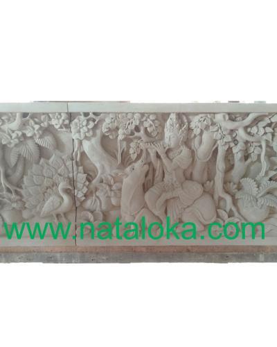 Relief Dinding Depan Rumah Motif Shri Krisna