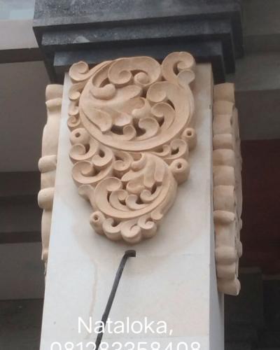 Relief Tiang Teras Rumah Minimalis