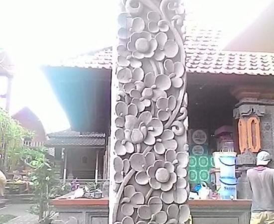 Hiasan Tiang Rumah motif Cemul