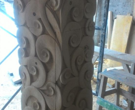 Harga ukiran batu alam motif util gorong gorong