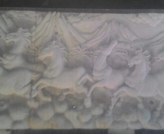 Relief Rumah Mewah motif Kuda