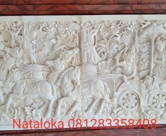 Relief Dinding Batu Alam Motif Ramayana