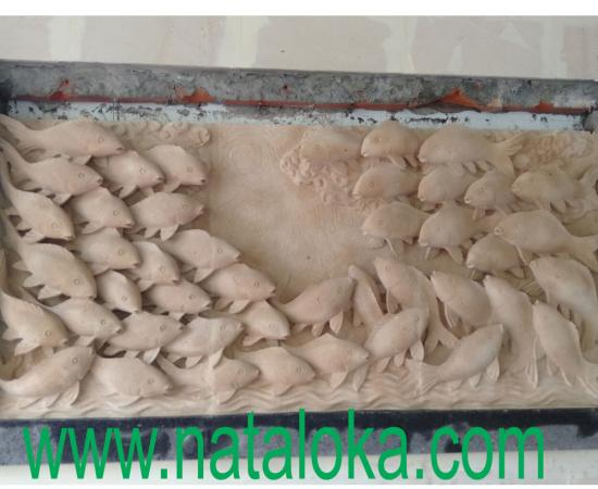 Contoh Relief Dinding  Depan Rumah Motif Ikan
