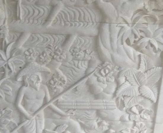 Relief Ukiran Batu Alam Motif Tradisi