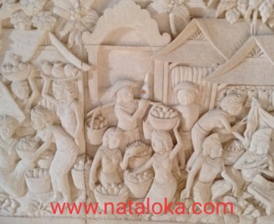 Dekorasi Rumah Ukiran Bali Relief Dinding