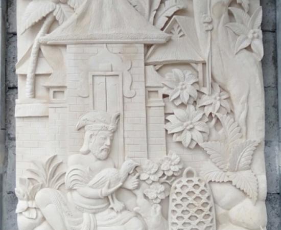 Jual Relief Ukir Batu Paras Motif Tradisional Bali