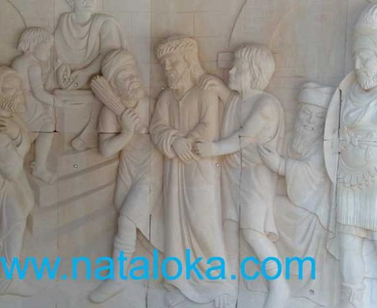 Jual Ukiran Relief Batu Paras Bali Motif Kerajaan