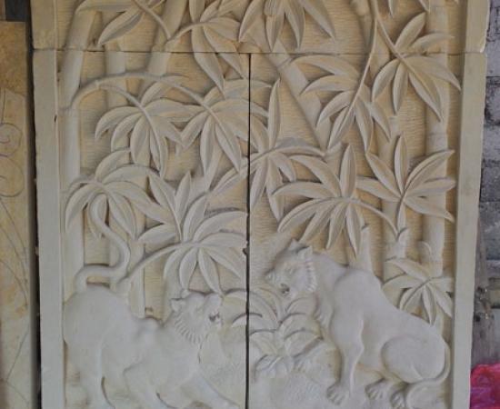 Relief alam bambu