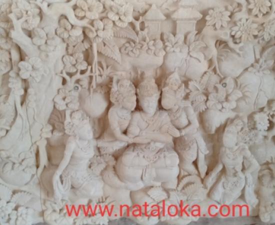 Relief Dinding Batu Alam Motif Arjuna
