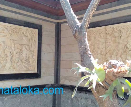 Relief Ukiran Bali Motif Pasar Untuk  Dinding