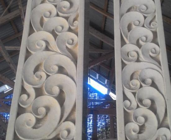 Relief ukiran motif modern