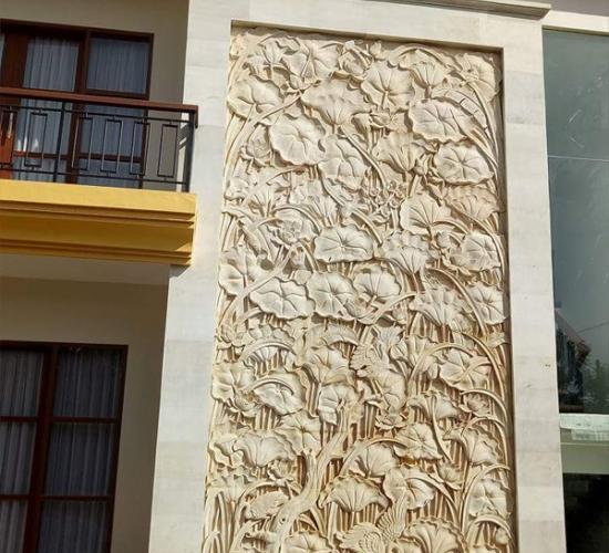 Relief Rumah Mewah motif Lotus
