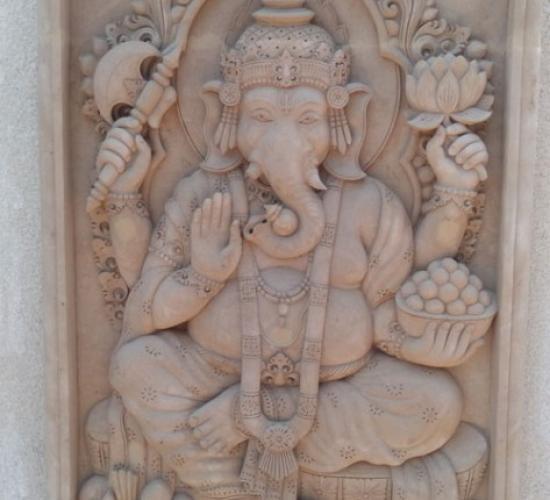 Relief Dinding Teras Motif Patung Dewa Ganesha