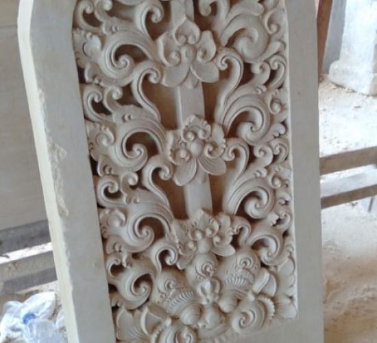 Relief Dinding Minimalis Motif Bunga