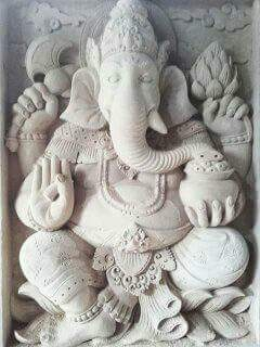 Relief Dekorasi Dinding Rumah motif Ganesa