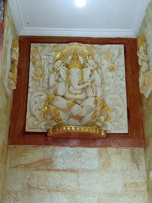 Hiasan Dekorasi Rumah Motif Patung Ganesa