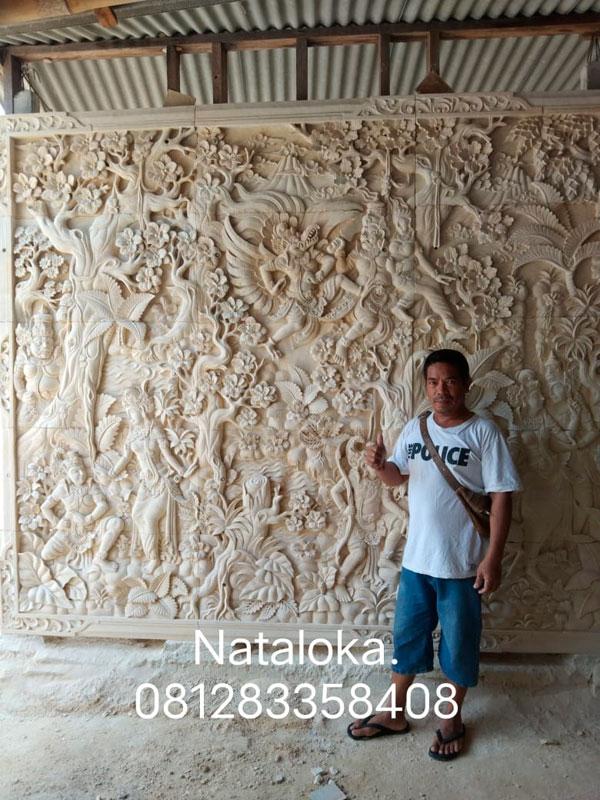 Hiasan Dinding Ukiran Relief Motif Dewa-Dewi