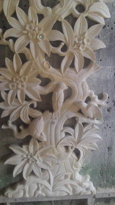 Harga relief batu alam alam pohon jepun