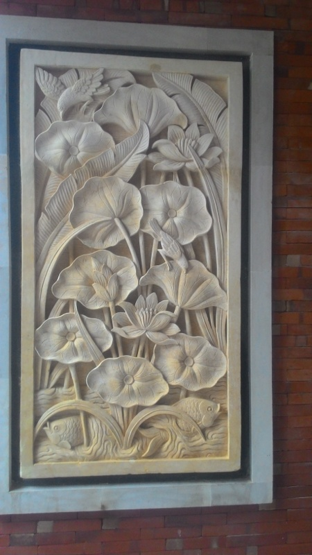 Harga Relief dinding Rumah Motif Lotus