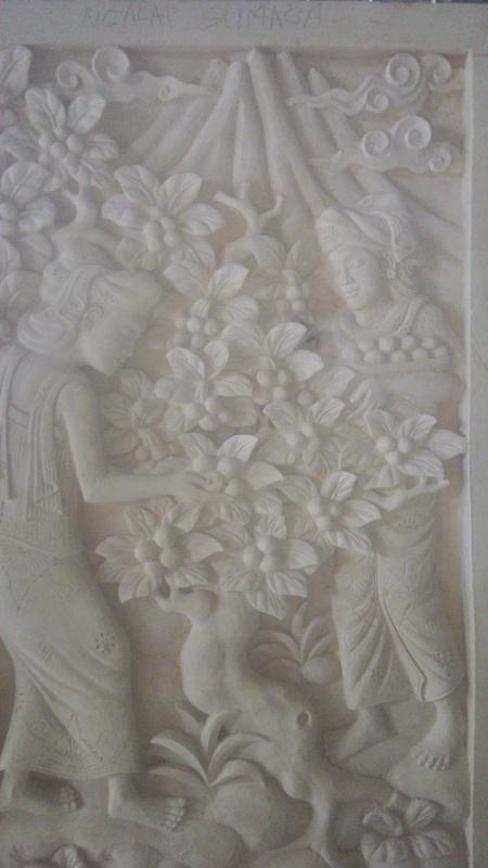 Relief Dinding Rumah Motif Tradisi