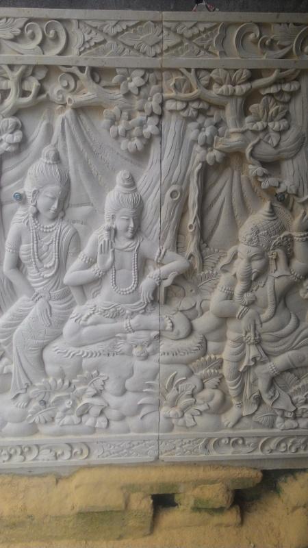 Relief Tembok Rumah Mewah motif Pewayangan