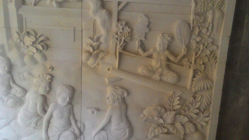 Relief Dinding Rumah Motif Sapu Leger