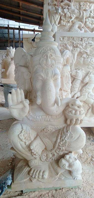 Patung Ukiran Bali Motif Ganesha