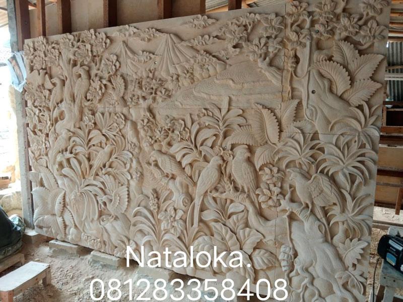 Relief Dinding Batu Alam Motif Pemandangan