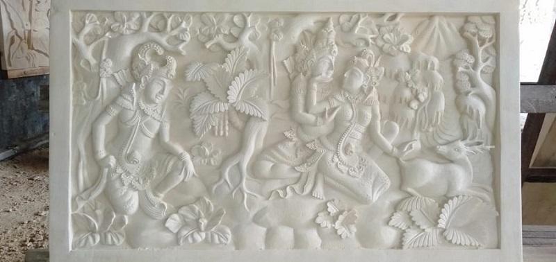 Relief Dinding Teras Rumah Motif Ramayana