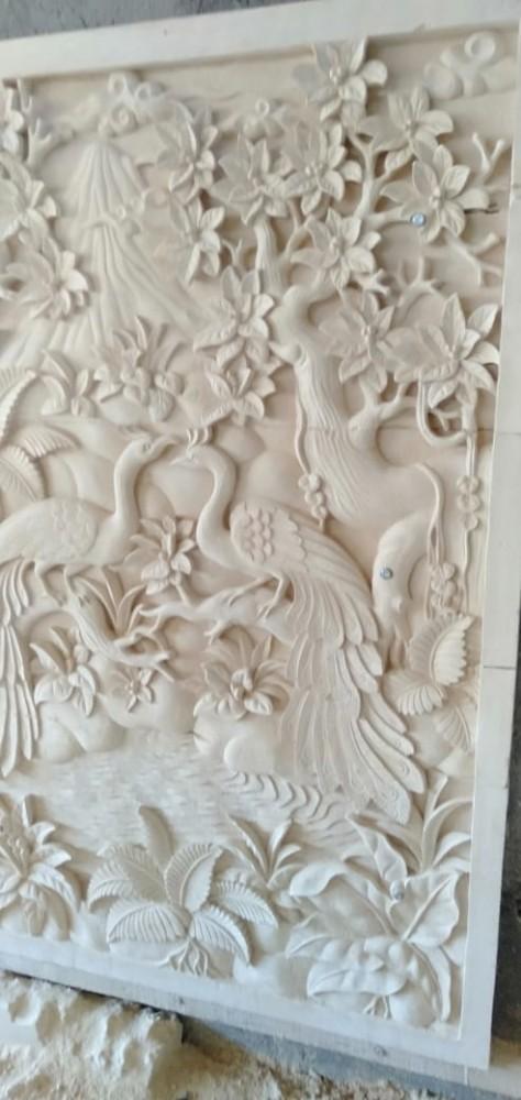 Relief Hiasan Dinding Motif Merak