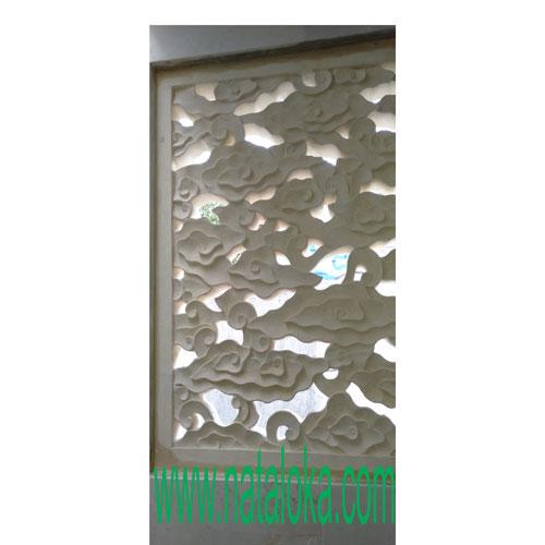 Relief Ukiran Batu Alam Motif Awan
