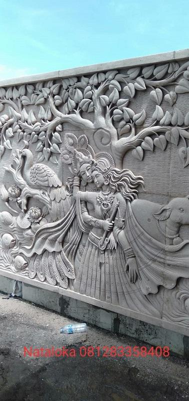 Relief Ukiran Dinding Motif Krisna Narada