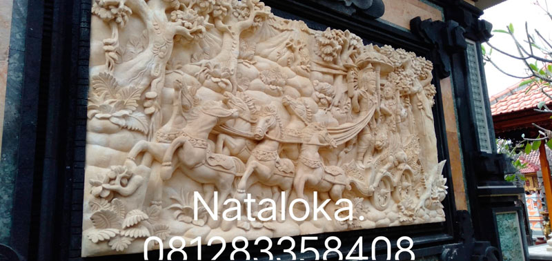 Ukiran Hiasan Dinding Motif Arjuna