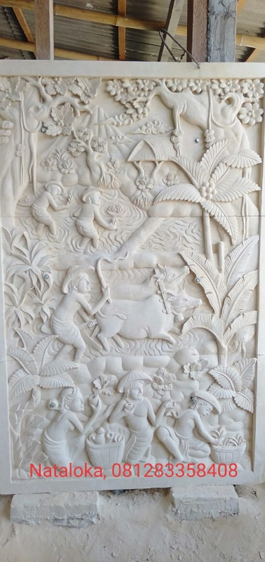 Ukiran Relief Bali Minimalis Motif Tradisi