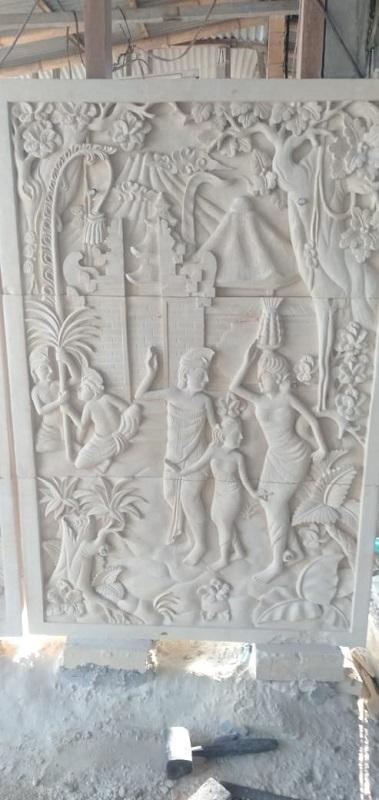 Ukiran Relief Bali Motif Tradisi