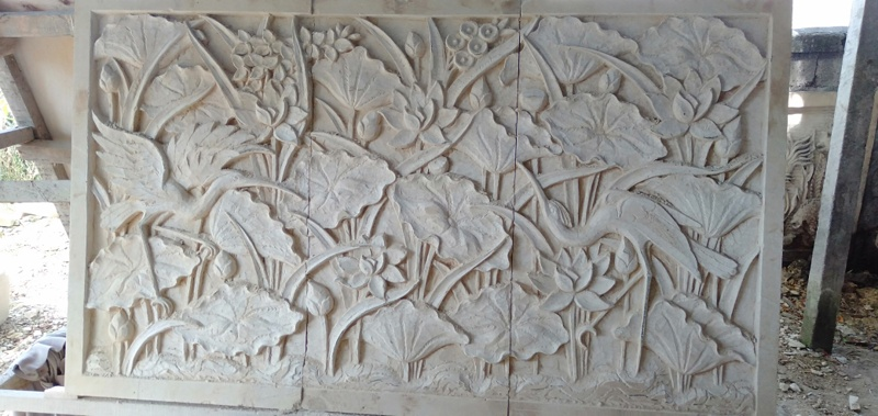 Harga Relief Dinding Taman Motif Lotus