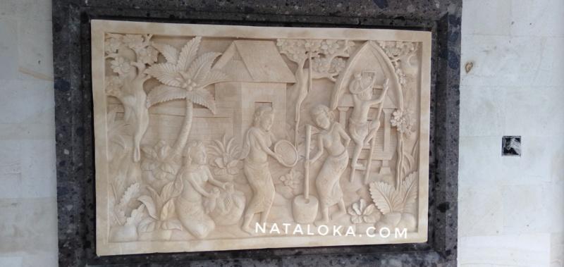 Jual Relief Dinding Dekorasi Rumah Motif Tradisi Tempo Dulu