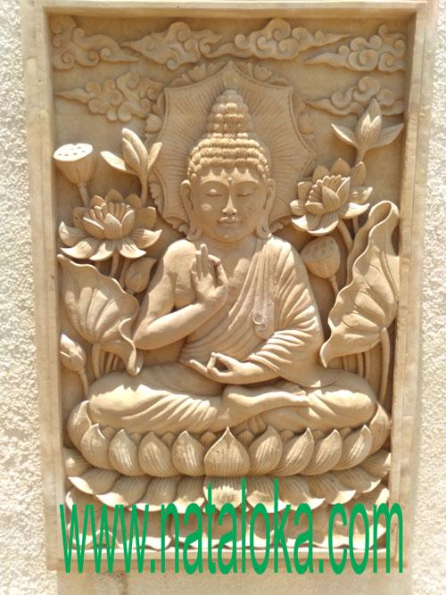 Jual Relief Ukiran Dinding Motif Patung Buddha