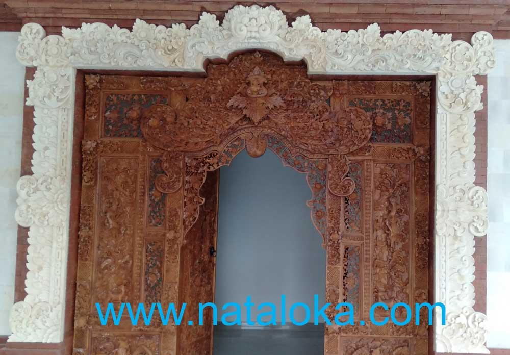 Relief Ukiran Untuk Bali Ornamen Penghias Pintu