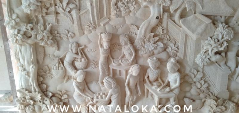 Ukir Relief Bali Minimalis Batu Paras Jogja
